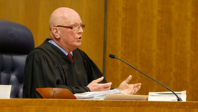 Judge Robert Noonan during one of the earlier hearings in the LDC criminal case. He announced Thursday, Dec. 17, 2015, that he was retiring and would not preside over the impending trial.