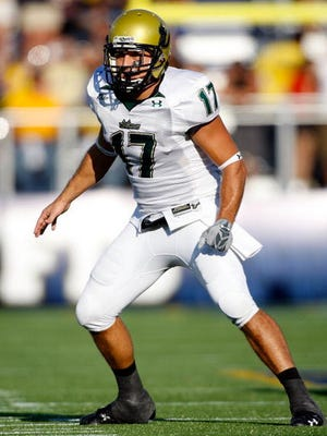 Danny Verpaele played for USF from 2004-08. He's seen here in 2008. Verpaele is an assistant coach for Army, and will experience his first Army-Navy game Saturday.