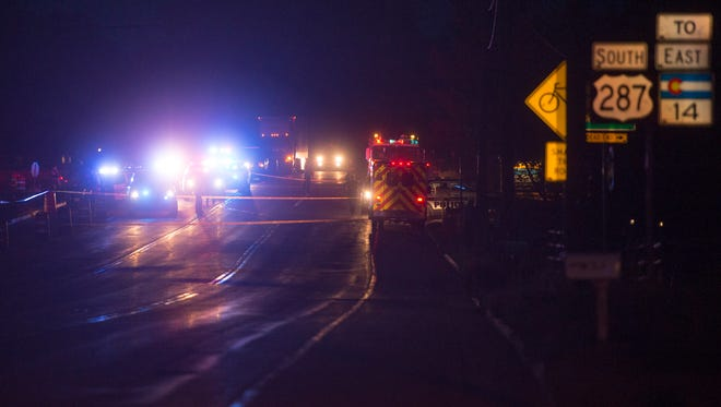 Fort Collins police and emergency responders closed off a stretch of U.S. Highway 287 in North Fort Collins during an officer-involved shooting incident Aug. 25.