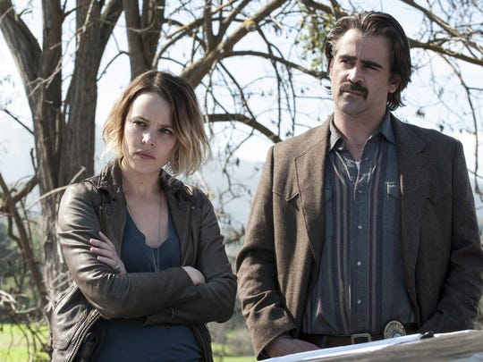 """Colin Farrell teams up with Rachel McAdams to investigate the bizarre murder of a city boss in """"True Detective."""""""