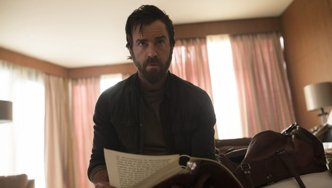 Kevin (Justin Theroux) doesn't know what to think about a gospel written about him in 'The Leftovers.'