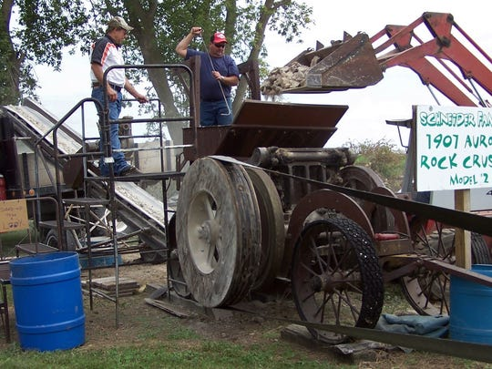 A 1907 Aurora Model 2 rock crusher showed that it was