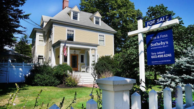 A home for sale this week along Miller Avenue in Portsmouth.