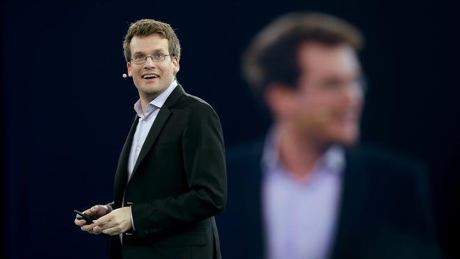 John Green speaks Thursday during the ExactTarget Connections conference at the Indiana Convention Center.