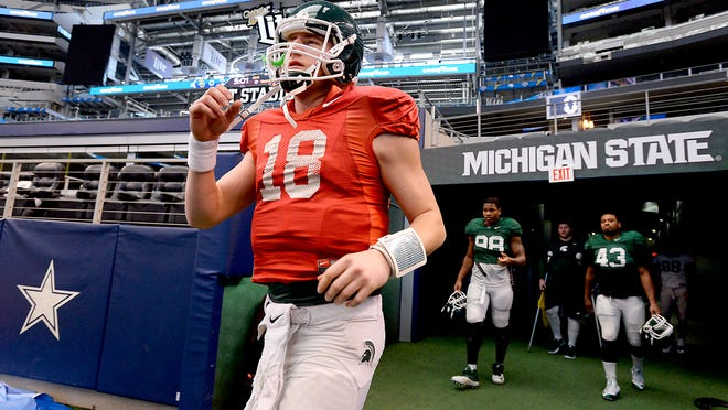 MSU quarterback Connor Cook and the Spartans take the field Sunday for Cotton Bowl practice at AT&T Stadium in Arlington, Texas. Cook's development saved MSU's offense last season. This season, he became a legitimate NFL prospect.