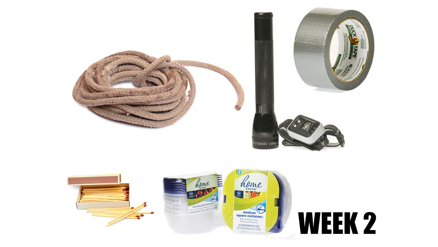 Week 2: Ropes, tape, flashlights and a pet leash
