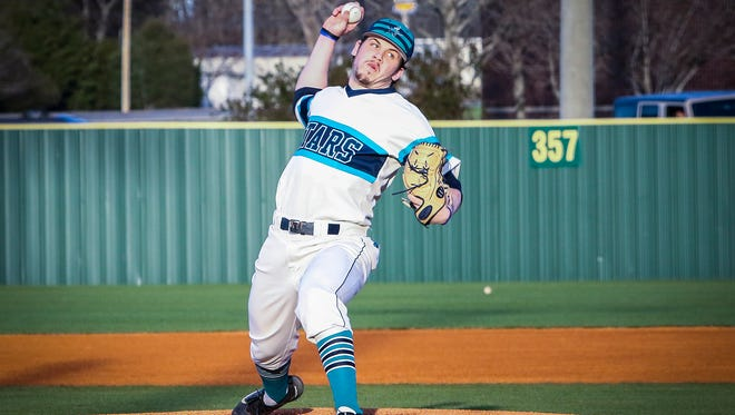 Siegel's John Ross Langworthy has anchored the Stars pitching staff this season.