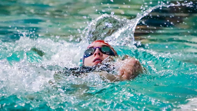Oakland's Kennedy Moore competes in Saturday's Rutherford County Swim Meet.