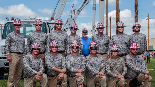 The Middle Tennessee Electric competition team at the 21st annual Tennessee Valley Lineman Rodeo on Saturday in Murfreesboro.