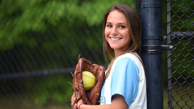 Portrait of IHA senior, softball outfielder Danica Yatko.