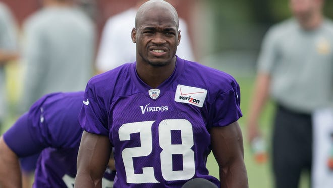 Vikings running back Adrian Peterson entered a no-contest plea to a reduced charge of misdemeanor assault Tuesday afternoon in Texas.