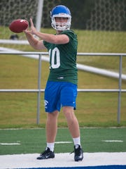 University of West Florida quarterback, Grey Jackson, and the rest of the Argos football team begins the 2016-football season on a soggy note Thursday morning.