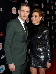 """Dan Stevens (left) and Aubrey Plaza arrive at the premiere of FX's """"Legion"""" at the Pacific Design Center on Jan. 26 in West Hollywood, California."""