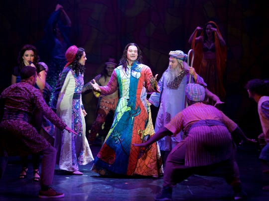 "J.C. McCann is Joseph in The Second National Tour of ""Joseph and the Amazing Technicolor Dreamcoat."""