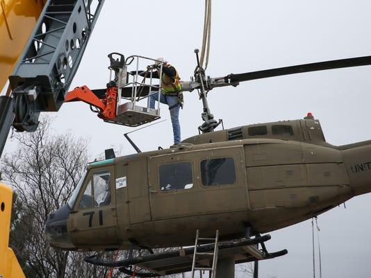 Helicopter taken down at Vietnam War Memorial