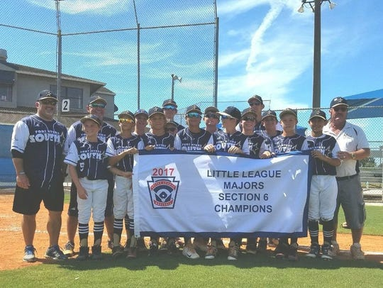 South Fort Myers Little League: Gavin Howe, Aidan Knaak,