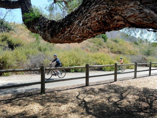 The Ojai Valley Trail connects Ventura and Ojai and