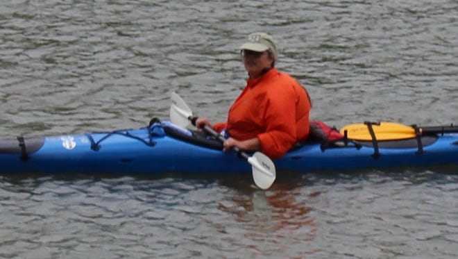 Casle Portner of Scotts Mills, Ore., enters the third checkpoint during the May 23 SD Kayak Challenge.