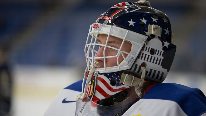Dylan St. Cyr of Northville, goalie for the U.S. Under-18 Men's Hockey team, won all seven games he played to lead Team USA to a gold medal in Slovakia.