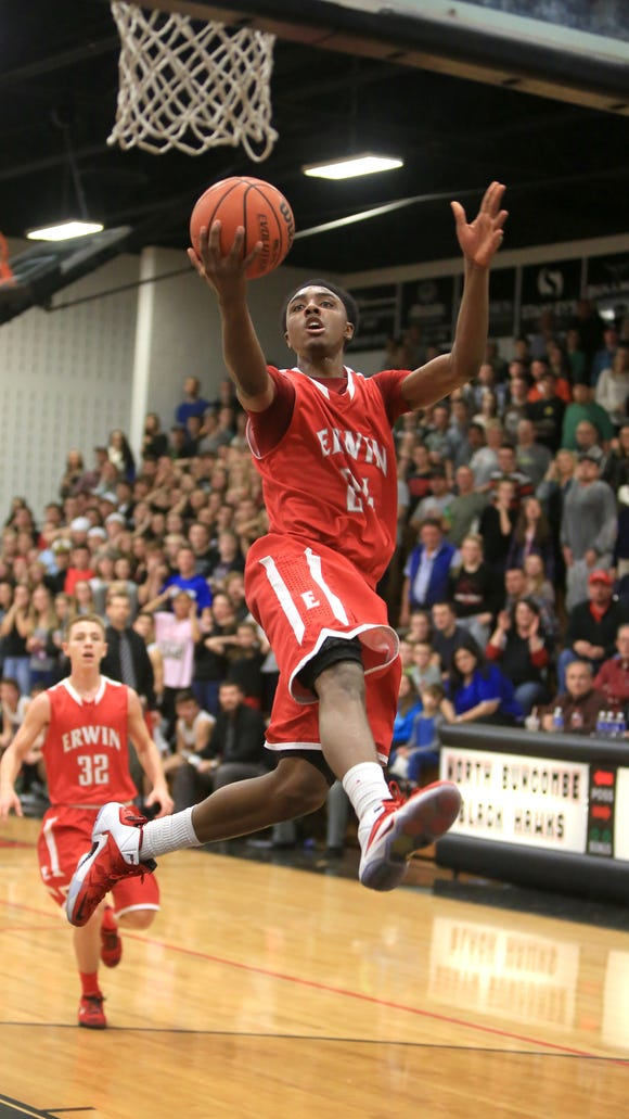 Erwin's Malik Moore led all scorers with 29 points Thursday in Weaverville.