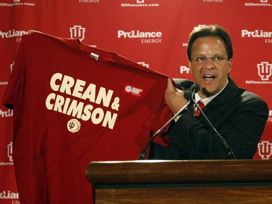 Tom Crean is introduced as IU's men's basketball  coach,