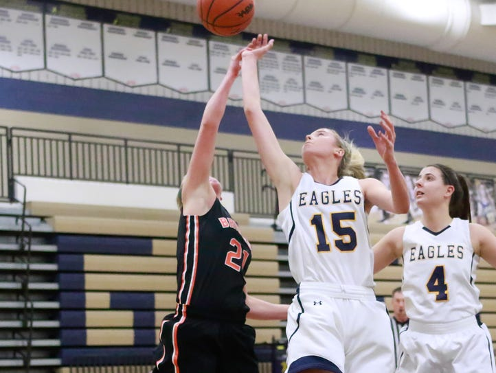Hartland sophomore Whitney Sollom (15) is being recruited