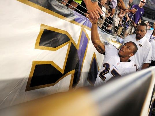 Baltimore Ravens running back Ray Rice