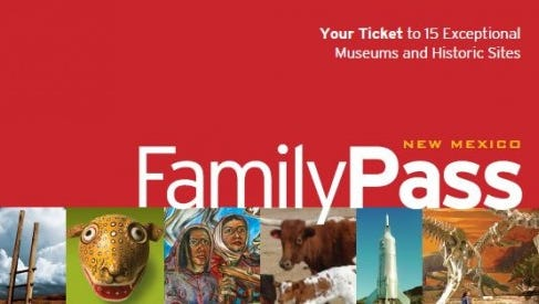 Three FamilyPasses are available for check out by library card holders in good standing at Capitan Public Library.