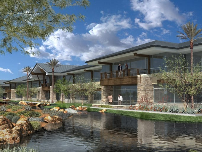 A rendering of the planned Isagenix International headquarters