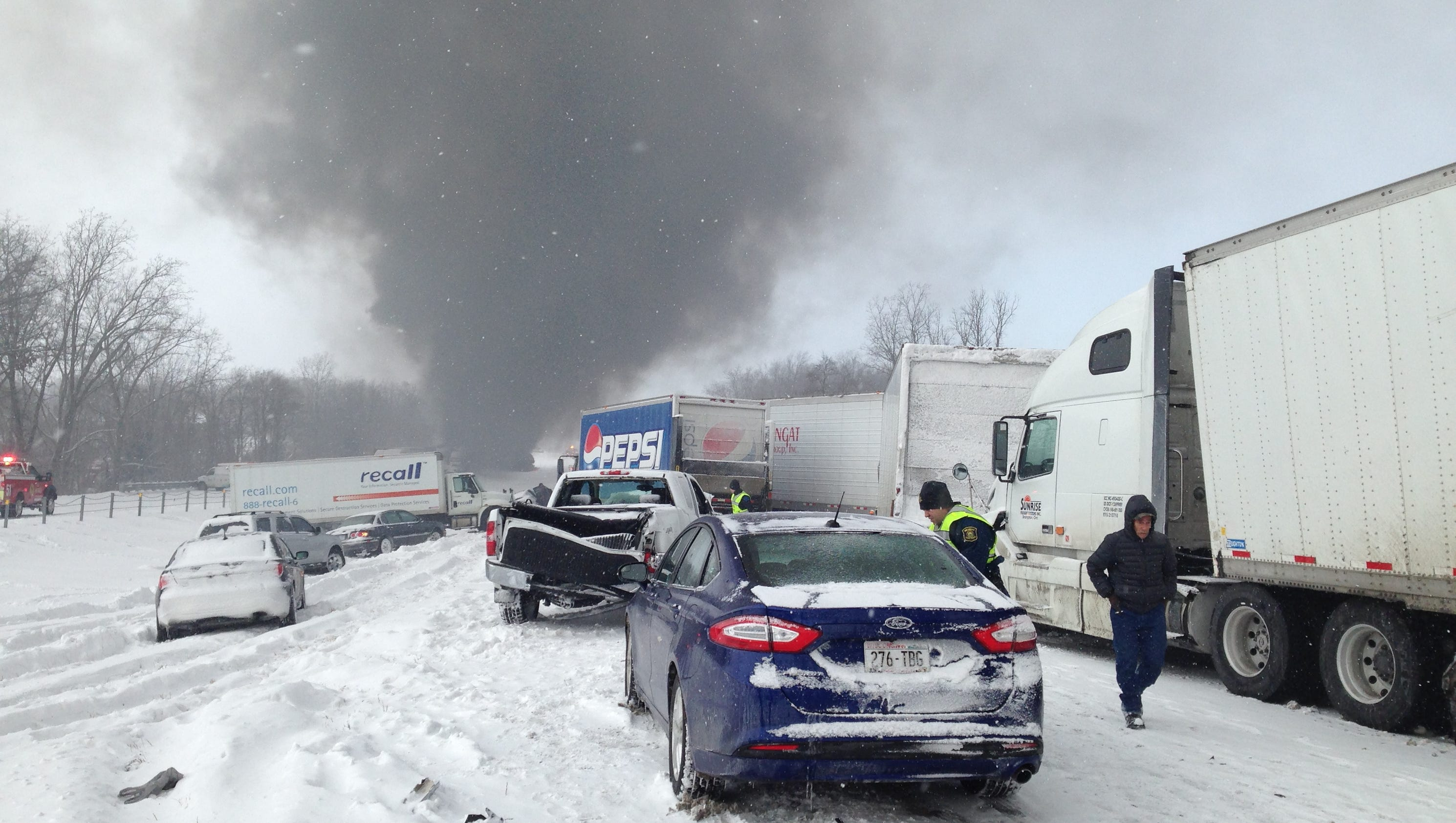 Michigan Car Pile Up Accident