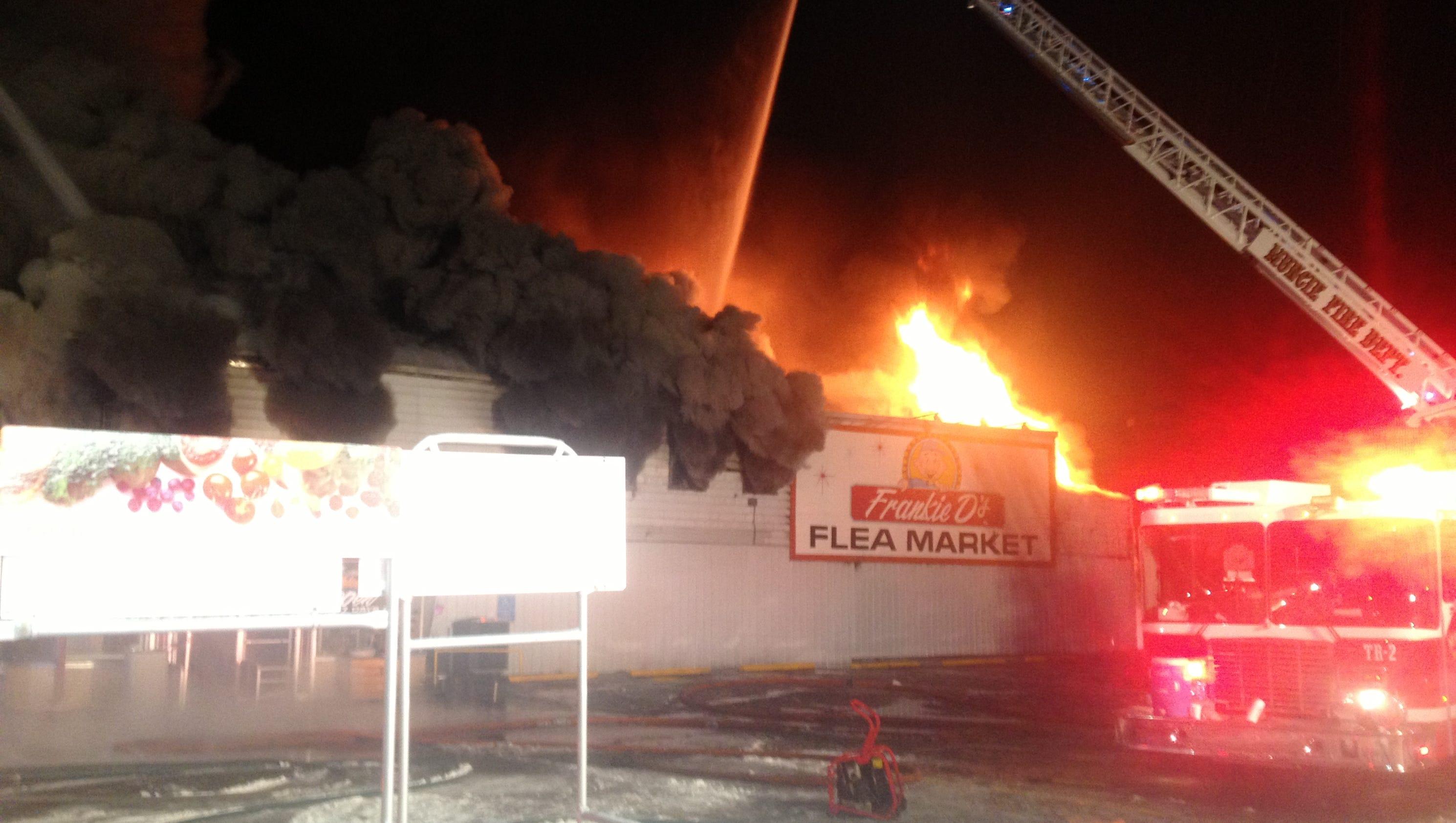 Massive fire destroys southside Muncie landmark