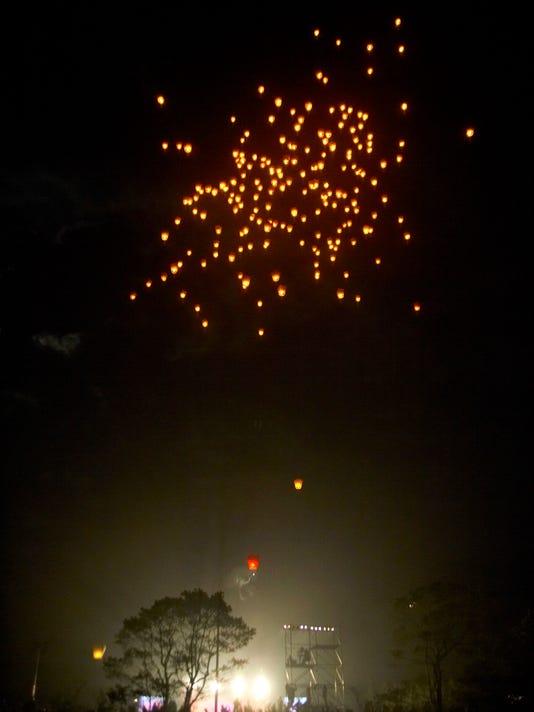 Flying Chinese Lantern