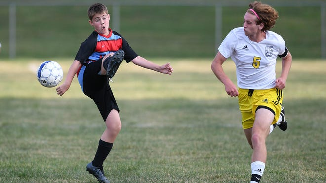 Perry at Alliance boys soccer from Aug. 21, 2020.  The Panthers defeated the Aviators 8-0.