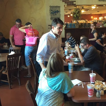 Todd Young, Republican candidate for the Senate, visits
