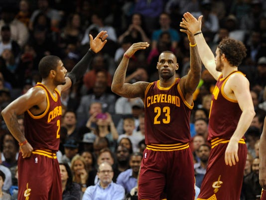 Kyrie Irving LeBron James Kevin Love