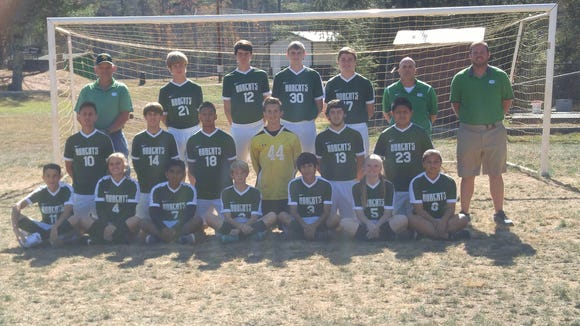 The Blue Ridge soccer team.