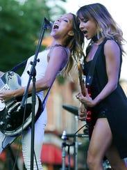 New Jersey-based twin sisters Nalani & Sarina perform