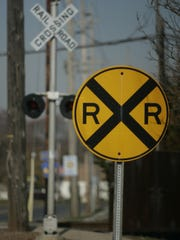 Railroad crossing.