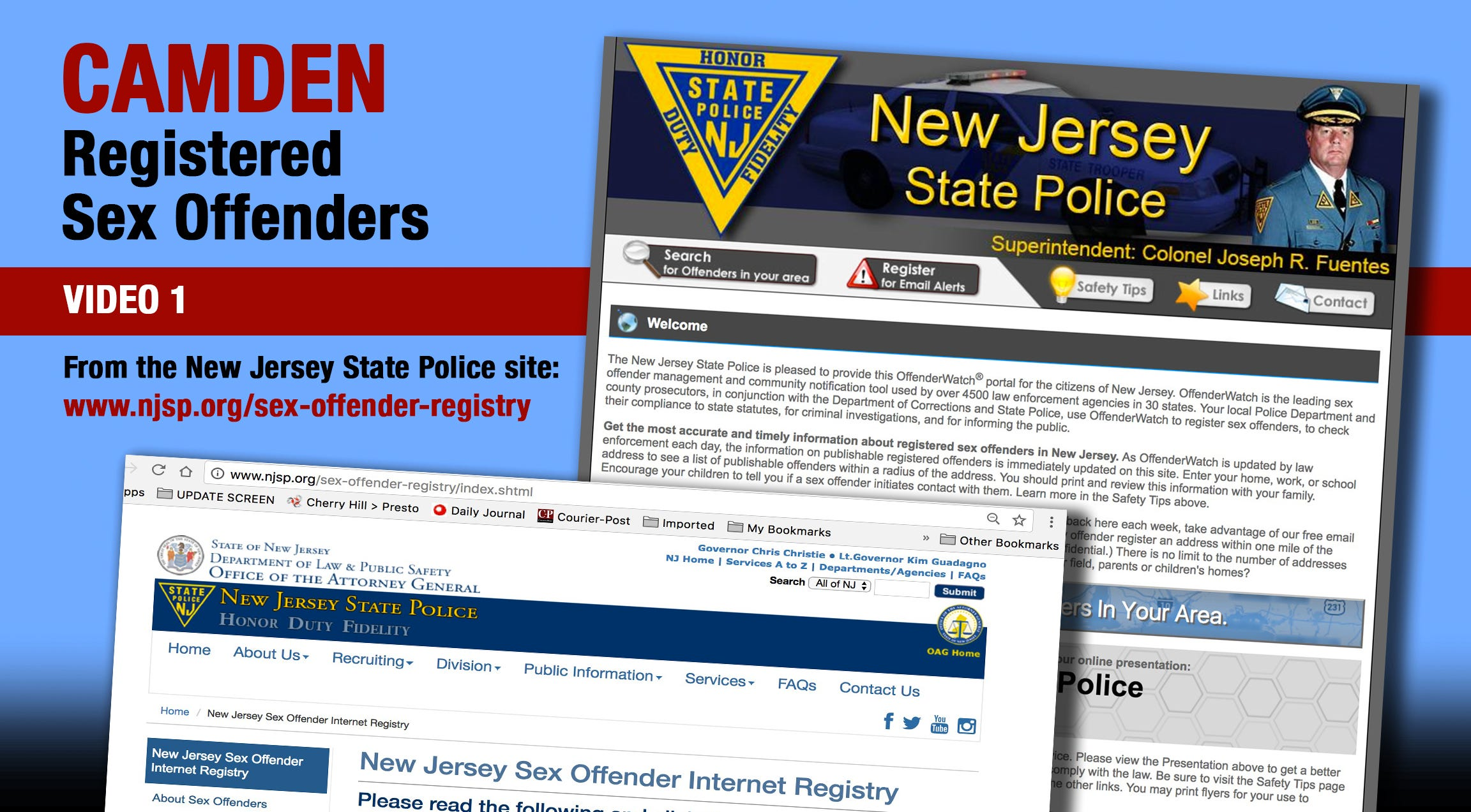 New jersey state polce sex offender registry