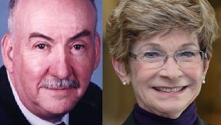 Dr. John Gwaltney and Dr. Carol Lucey