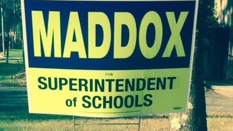 Scott Maddox signs have been swapped out with noted alacrity.