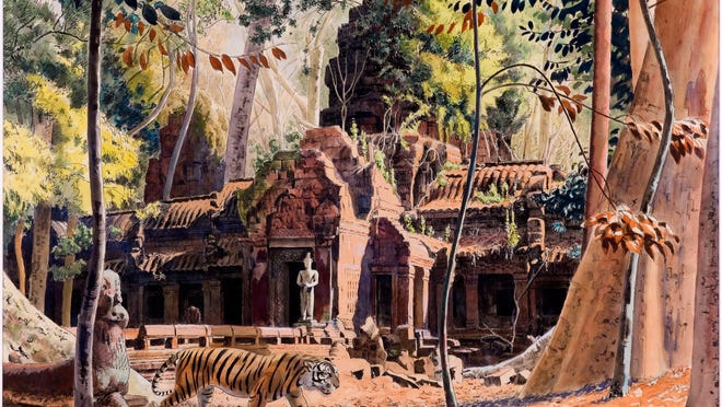 This watercolor is from Jean Despujols' Indochina collection.