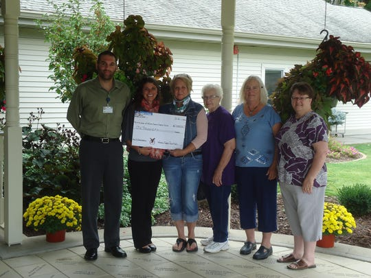 "Wausau Eagles Club No. 251 held their first annual ""Corn Roast"" to raise funds for Aspirus Hospice House and Randlin Homes. Several from the committee presented a $1,000 check to the Aspirus Hospice House to help support end-of-life care for patients. Pictured are Sean Chramega, from left, Tasha Stencil, Karen Huber, Shirley Nowak, Vicki LaFave and Colleen Stillwell."
