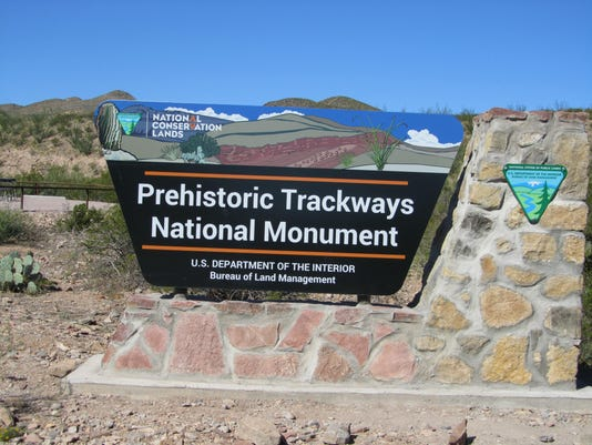 Prehistoric Trackways Sign.JPG