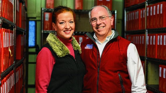 Skates US owners Carolyn Ripp, left, and David Ripp at their business on West Eaton Pike.