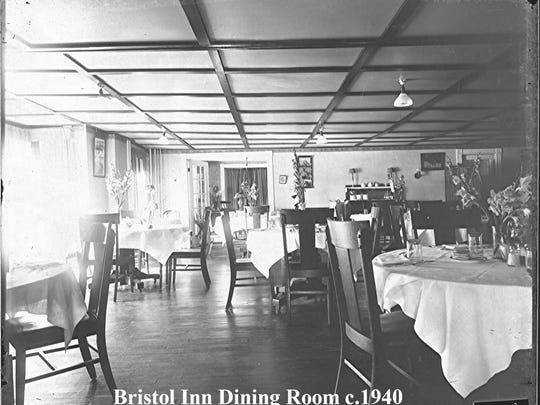 The Bristol Inn dining room circa 1940.
