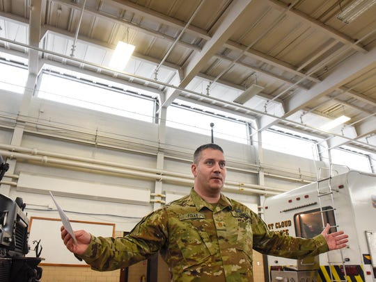 Maj. Patrick Foley talks about energy efficiency upgrades
