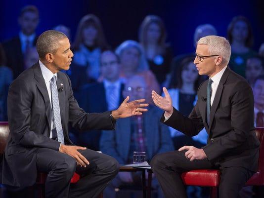 Barack Obama, Anderson Cooper