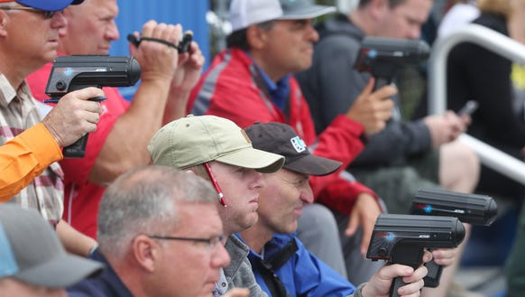 MLB scouts watching Jo Jo Gray pitch for Le Moyne against