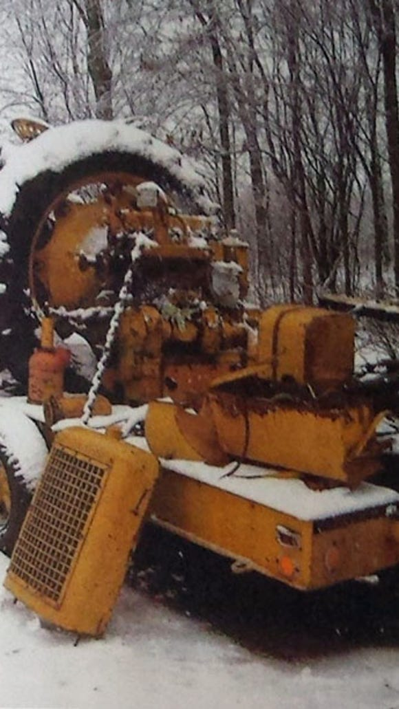 Sheppard tractor as found. Photo from Antique Power magazine taken by Dave Gerlach